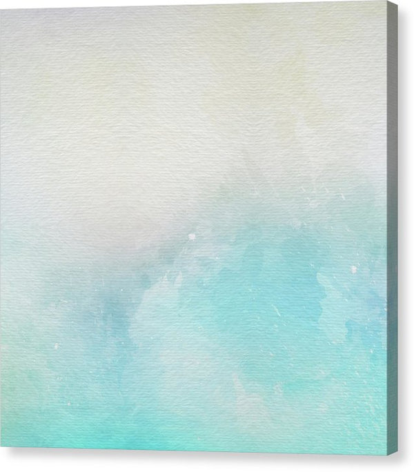 Abstract Beach Painting With Canvas Texture - Canvas Print from Wallasso - The Wall Art Superstore