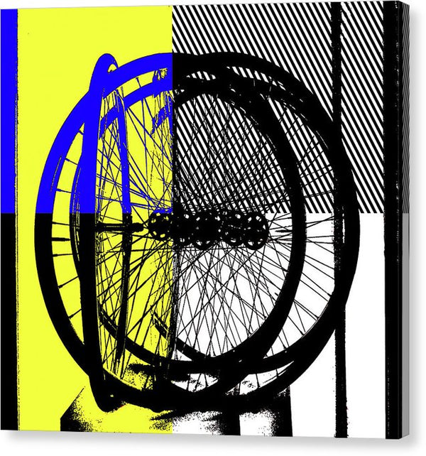 Abstract Bicycle Tires - Canvas Print from Wallasso - The Wall Art Superstore