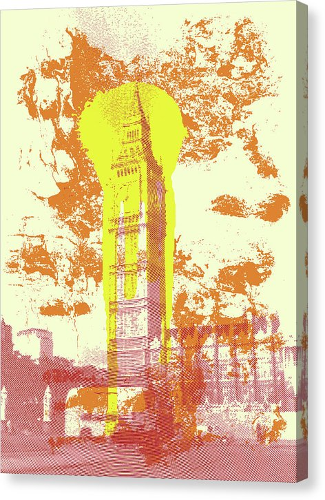 Abstract Big Ben Clock Tower London - Canvas Print from Wallasso - The Wall Art Superstore