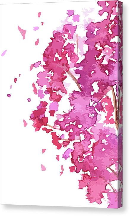 Abstract Cherry Blossom Watercolor Painting - Canvas Print from Wallasso - The Wall Art Superstore