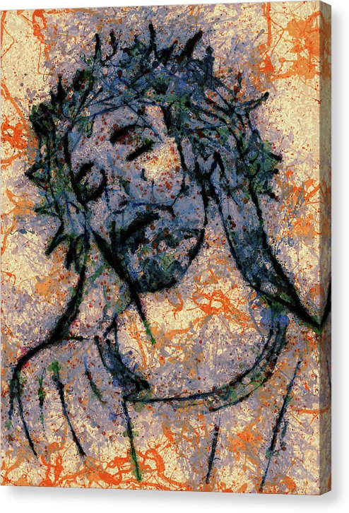 Abstract Jesus Christ Portrait - Canvas Print from Wallasso - The Wall Art Superstore