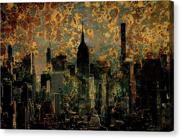 Abstract New York City Skyline - Canvas Print from Wallasso - The Wall Art Superstore