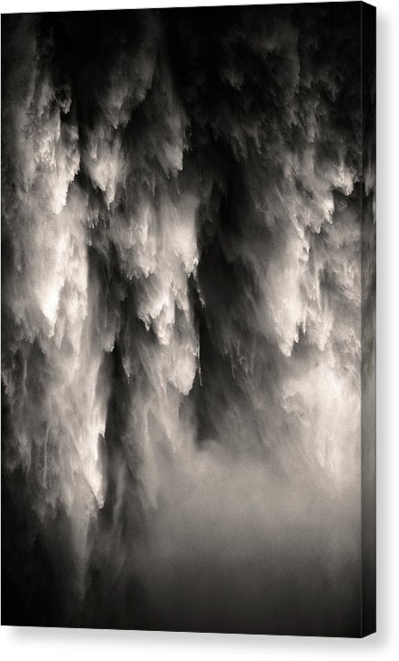 Abstract Of Falling Water - Canvas Print from Wallasso - The Wall Art Superstore