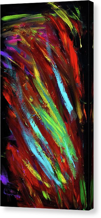 Abstract On Black by Jessica Contreras - Canvas Print from Wallasso - The Wall Art Superstore