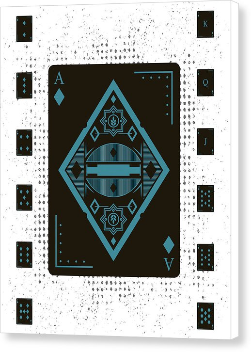 Abstract Playing Card Design - Canvas Print from Wallasso - The Wall Art Superstore
