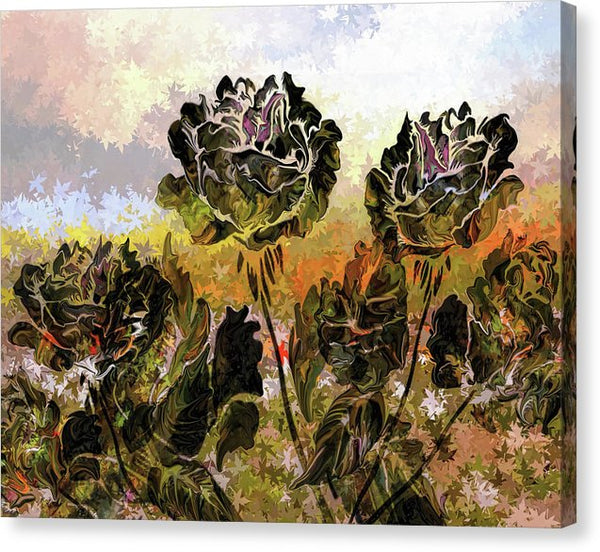 Abstract Rose Flower Painting - Canvas Print from Wallasso - The Wall Art Superstore
