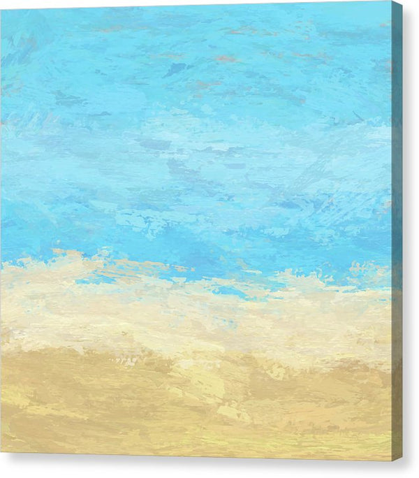 Abstract Sand and Sea Painting - Canvas Print from Wallasso - The Wall Art Superstore