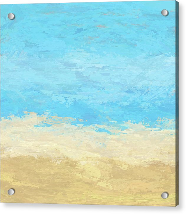 Abstract Sand and Sea Painting - Acrylic Print from Wallasso - The Wall Art Superstore