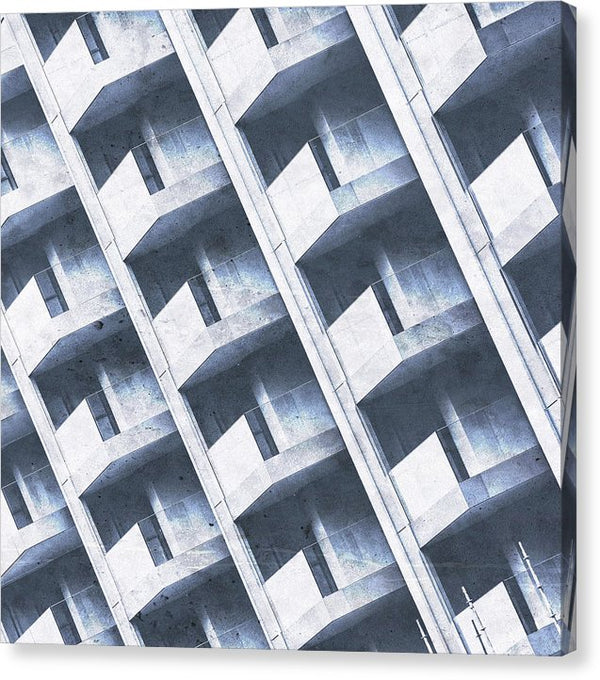 Abstract View of Apartment Building Balconies - Canvas Print from Wallasso - The Wall Art Superstore