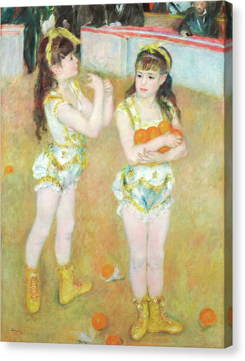 Acrobats At The Cirque Fernando by Pierre Auguste Renoir, 1879 - Canvas Print from Wallasso - The Wall Art Superstore