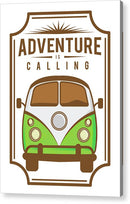 Adventure Is Calling Volkswagen Bus Sign - Acrylic Print from Wallasso - The Wall Art Superstore
