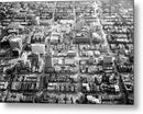 Aerial View of City Blocks - Metal Print from Wallasso - The Wall Art Superstore