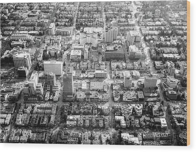 Aerial View of City Blocks - Wood Print from Wallasso - The Wall Art Superstore