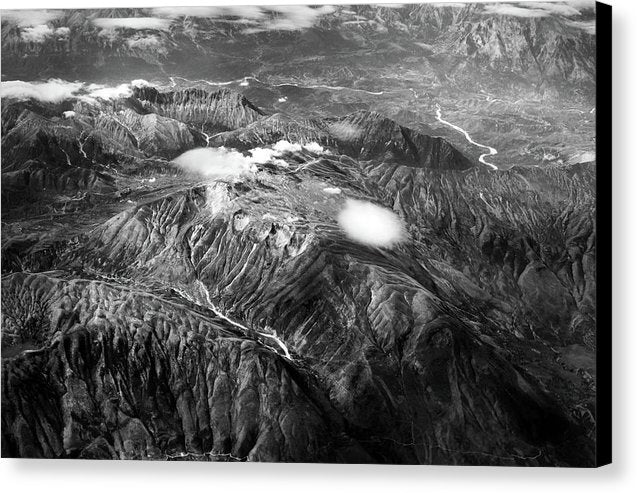 Aerial View of Mountain Range - Canvas Print from Wallasso - The Wall Art Superstore
