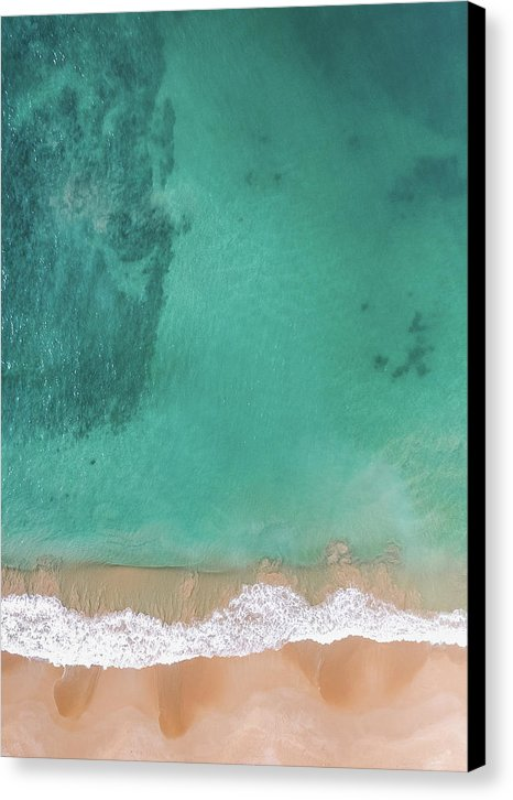 Aerial View of Tropical Beach and Clear Ocean Water - Canvas Print from Wallasso - The Wall Art Superstore