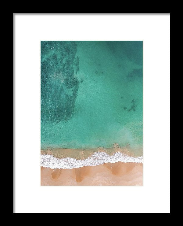 Aerial View of Tropical Beach and Clear Ocean Water - Framed Print from Wallasso - The Wall Art Superstore