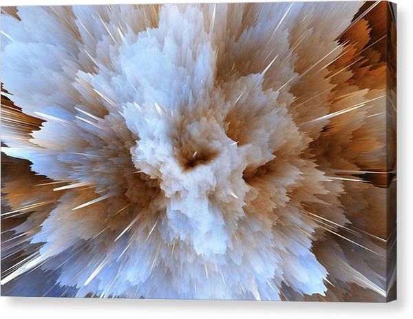 Amazing Abstract Nebula Explosion Design - Canvas Print from Wallasso - The Wall Art Superstore