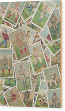 Antique Baseball Card Jumble Collage - Wood Print from Wallasso - The Wall Art Superstore