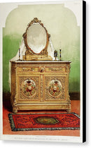 Antique Bedroom Dresser Illustration - Canvas Print from Wallasso - The Wall Art Superstore