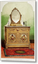 Antique Bedroom Dresser Illustration - Metal Print from Wallasso - The Wall Art Superstore