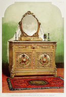 Antique Bedroom Dresser Illustration - Art Print from Wallasso - The Wall Art Superstore