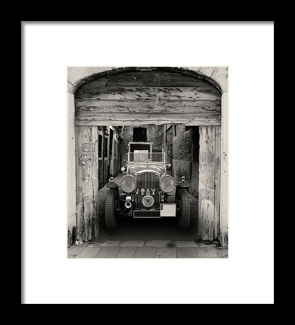 Antique Car In Alley - Framed Print from Wallasso - The Wall Art Superstore