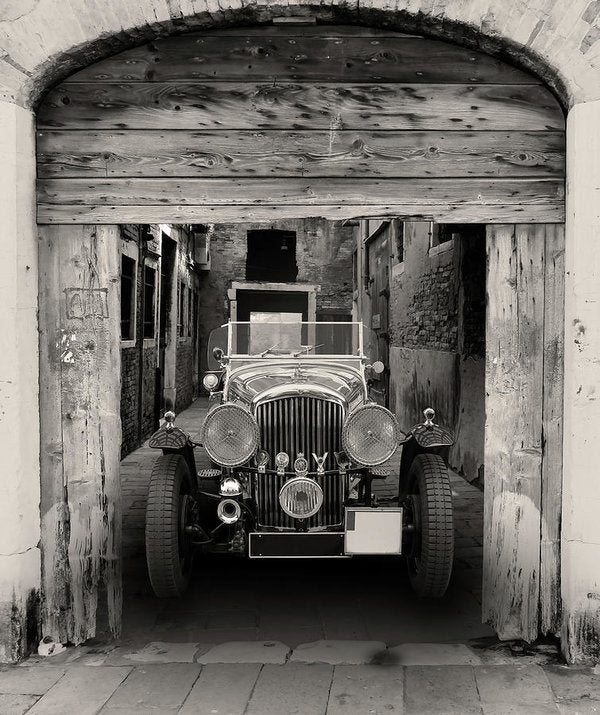 Antique Car In Alley - Art Print from Wallasso - The Wall Art Superstore