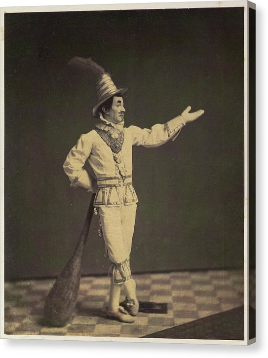 Antique Circus Clown, Ca. 1860 - Canvas Print from Wallasso - The Wall Art Superstore