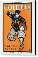 Antique Colliers Football Poster, 1901 - Canvas Print from Wallasso - The Wall Art Superstore