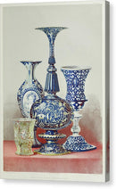 Antique Glass Vases - Canvas Print from Wallasso - The Wall Art Superstore
