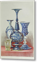 Antique Glass Vases - Metal Print from Wallasso - The Wall Art Superstore