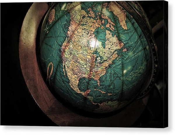 Antique Globe - Canvas Print from Wallasso - The Wall Art Superstore