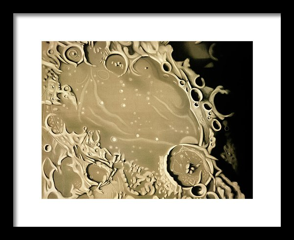 Antique Illustration of Lunar Impact Crater Detail, 1881 - Framed Print from Wallasso - The Wall Art Superstore