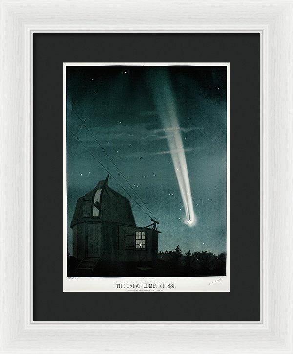 Antique Illustration of The Great Comet of 1881 - Framed Print from Wallasso - The Wall Art Superstore