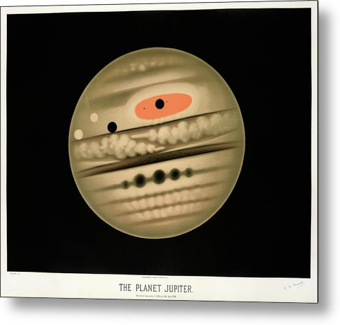 Antique Illustration of The Planet Jupiter, 1881 - Metal Print from Wallasso - The Wall Art Superstore