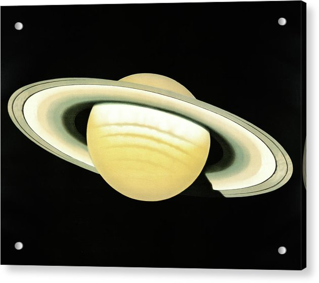 Antique Illustration of The Planet Saturn Detail, 1881 - Acrylic Print from Wallasso - The Wall Art Superstore