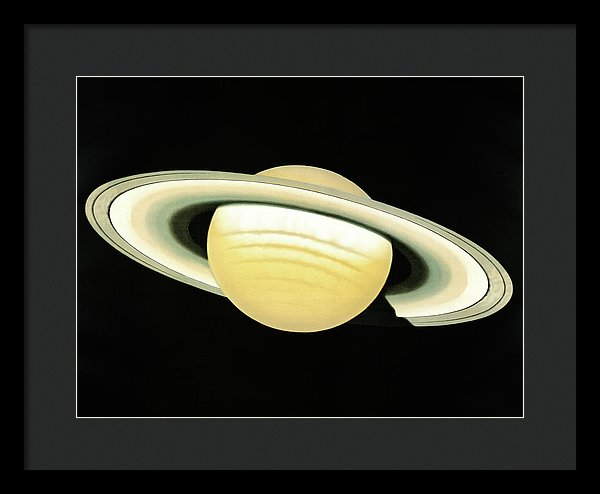 Antique Illustration of The Planet Saturn Detail, 1881 - Framed Print from Wallasso - The Wall Art Superstore