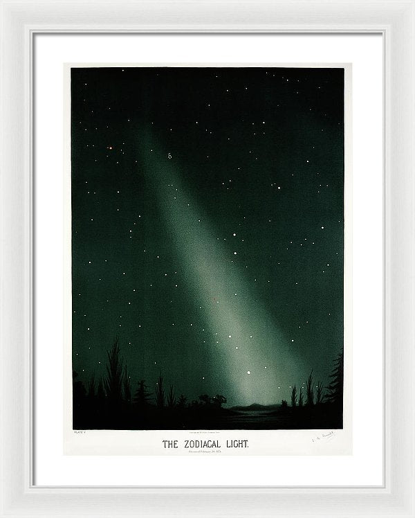 Antique Illustration of Zodiacal Light In Night Sky, 1881 - Framed Print from Wallasso - The Wall Art Superstore