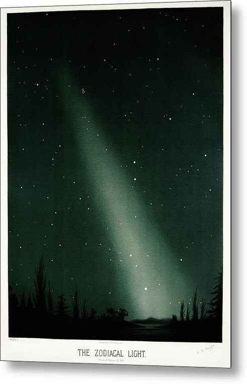 Antique Illustration of Zodiacal Light In Night Sky, 1881 - Metal Print from Wallasso - The Wall Art Superstore