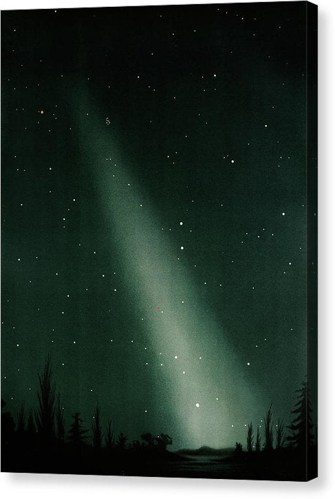 Antique Illustration of Zodiacal Light In Night Sky Detail, 1881 - Canvas Print from Wallasso - The Wall Art Superstore