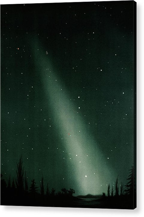 Antique Illustration of Zodiacal Light In Night Sky Detail, 1881 - Acrylic Print from Wallasso - The Wall Art Superstore