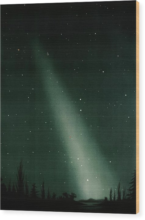 Antique Illustration of Zodiacal Light In Night Sky Detail, 1881 - Wood Print from Wallasso - The Wall Art Superstore