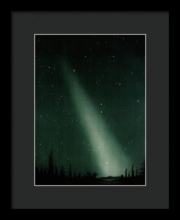 Antique Illustration of Zodiacal Light In Night Sky Detail, 1881 - Framed Print from Wallasso - The Wall Art Superstore
