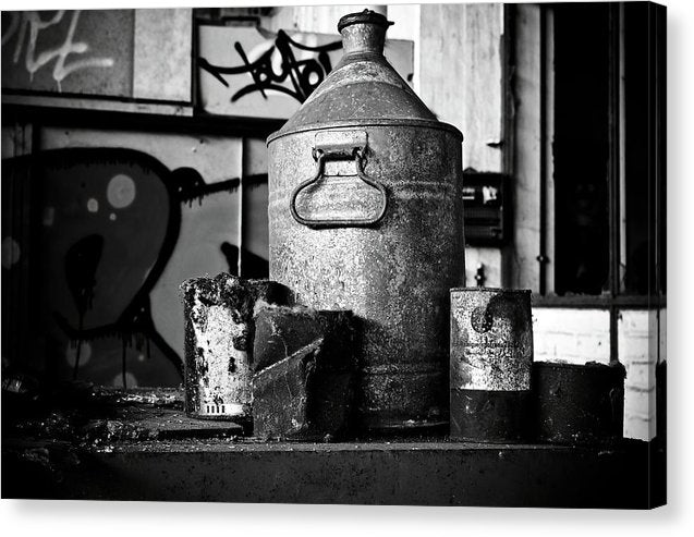 Antique Oil Cans - Canvas Print from Wallasso - The Wall Art Superstore