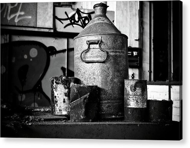Antique Oil Cans - Acrylic Print from Wallasso - The Wall Art Superstore