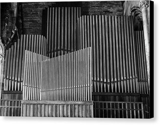 Antique Organ Pipes - Canvas Print from Wallasso - The Wall Art Superstore