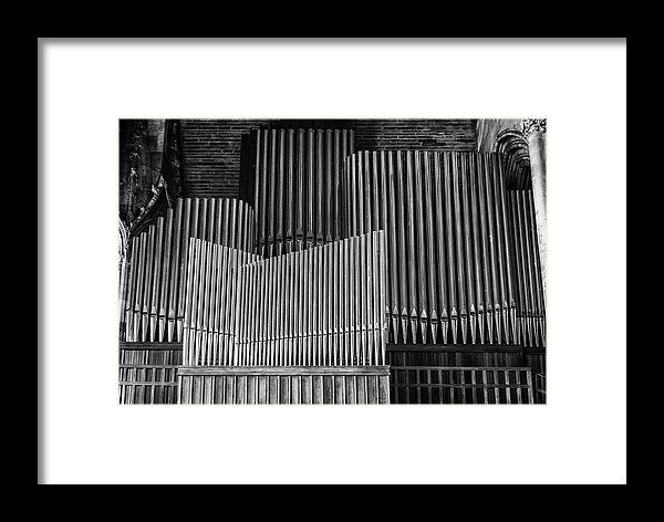 Antique Organ Pipes - Framed Print from Wallasso - The Wall Art Superstore