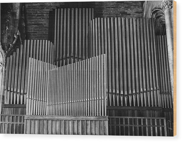 Antique Organ Pipes - Wood Print from Wallasso - The Wall Art Superstore