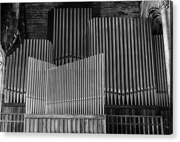 Antique Organ Pipes - Acrylic Print from Wallasso - The Wall Art Superstore