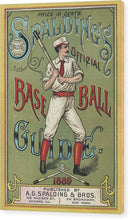 Antique Spaldings official Baseball Guide, 1889 - Wood Print from Wallasso - The Wall Art Superstore